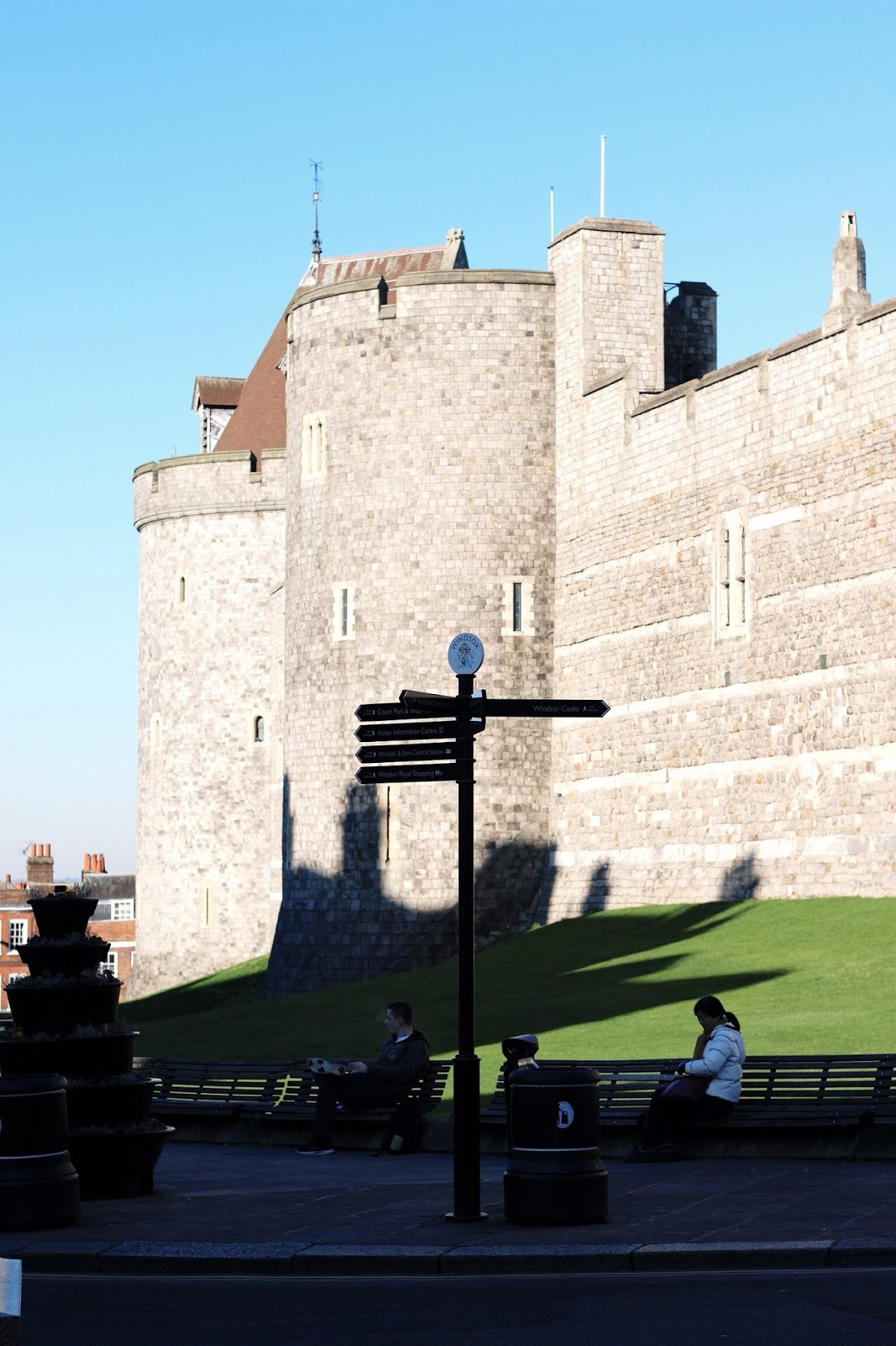 Windsor Castle in winter on a sunny day