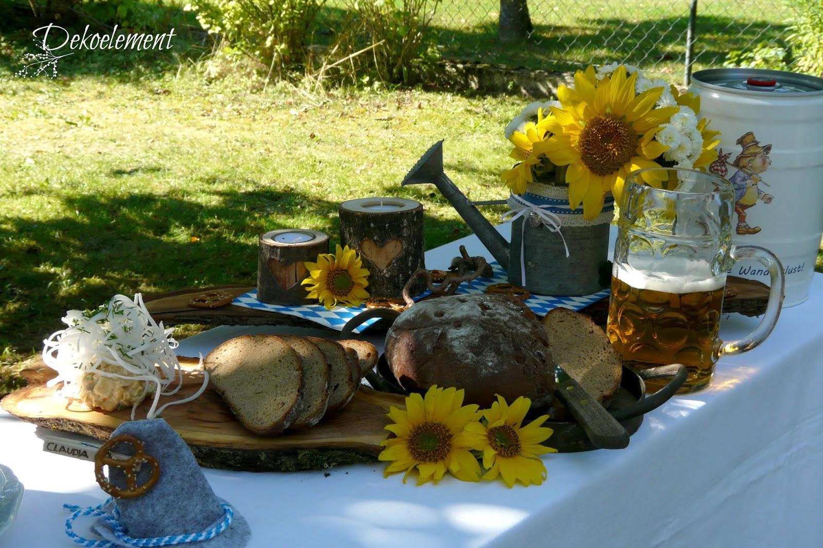 Dekoelement Bayrisch Rustikale Tischdekoration