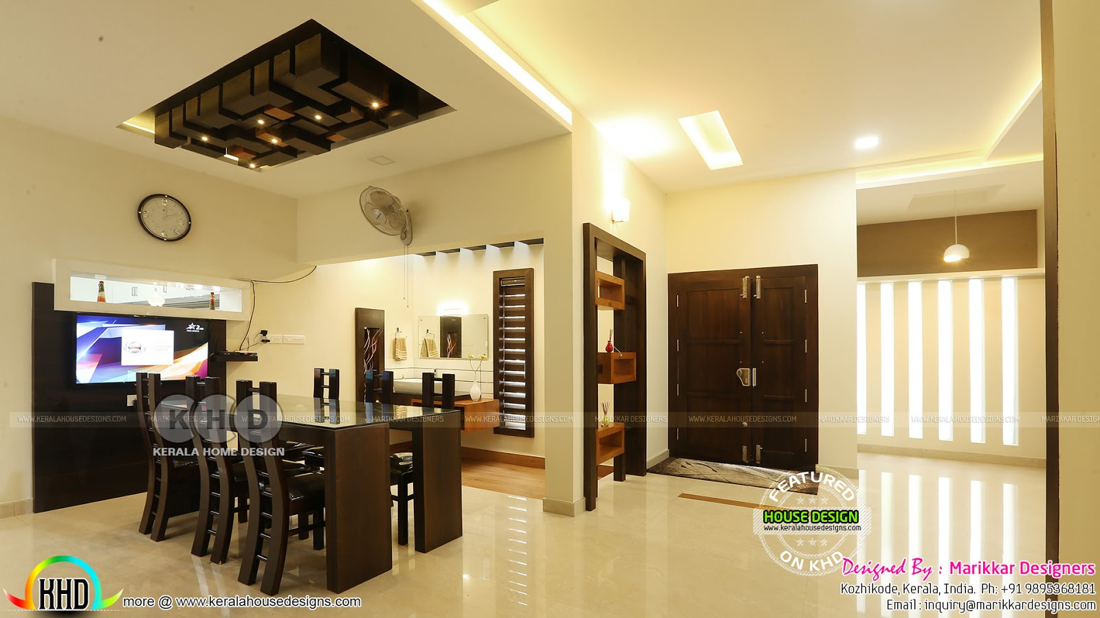 Furnished Interior And Exterior Of 4 Bedroom House Kerala Home Design And Floor Plans 8000 Houses