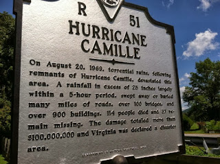 Hurricane Camille road marker