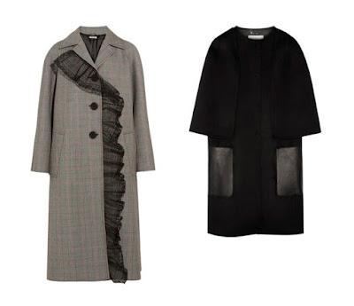 Серое пальто с рукавом реглан и черное пальто с карманами