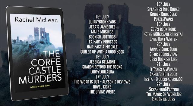 The Corfe Castle Murders by Rachel McLean blog tour banner