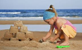 Sculpting Sand at the Beach