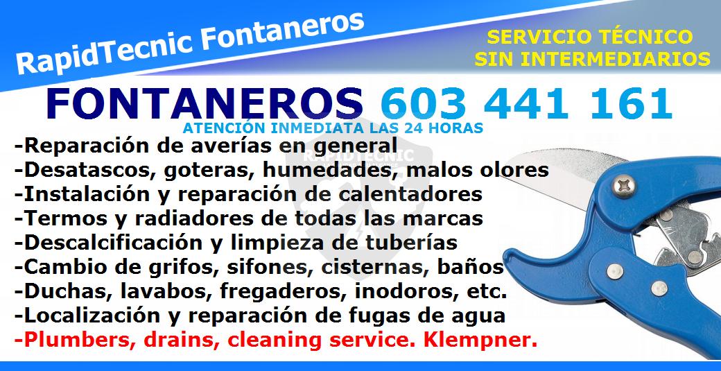 Rapidtecnic Alicante Fontaneros Urb Calas Blancas Del Mar Ii