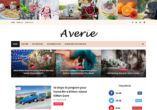 Averie Minimal Blogger Template
