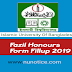 Fazil Honours Form Fill up Notice 2019 for Islamic University Of Bangladesh