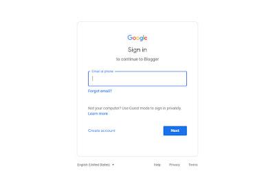 كيفية انشاء مدونة في جوجل