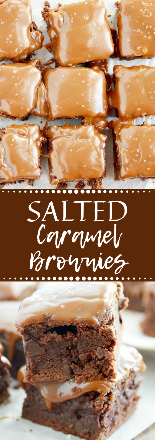 Salted Caramel Brownies #caramel #dessert #brownies #cake #yummy