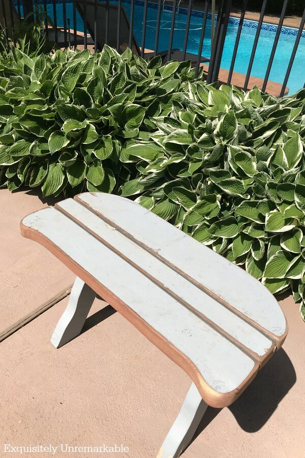 Curved Picnic Bench in the garden