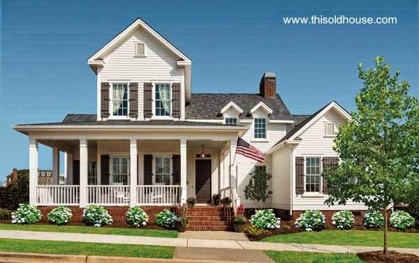 Modelo nuevo de casa residencial americana