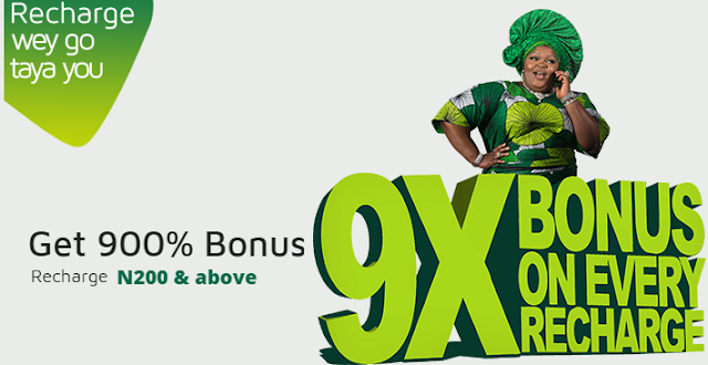 How to Activate 900% Bonus Offer On Your Sim - 9mobile