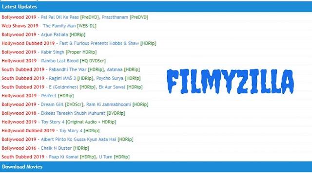 Filmyzilla 2019 Bollywood, South, Hollywood Movies Download HD