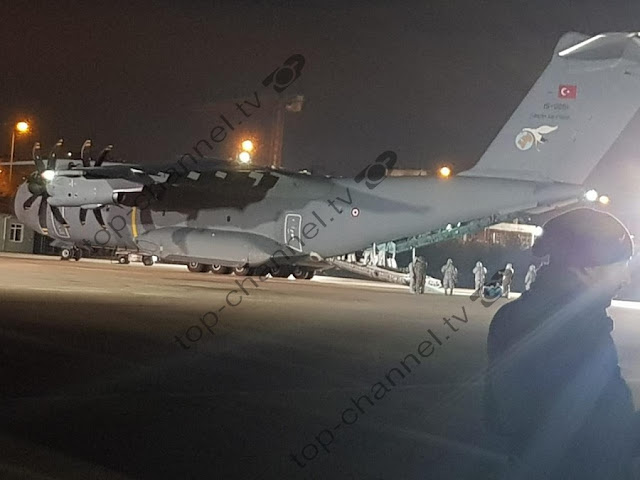 Albanian student Silva Doci arrives in Ankara from Wuhan by Turkish military aircraft