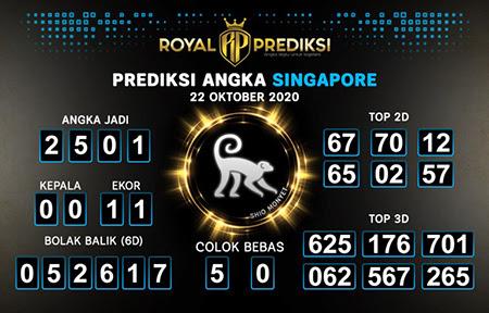 Royal Prediksi SGP Kamis 22 Oktober 2020