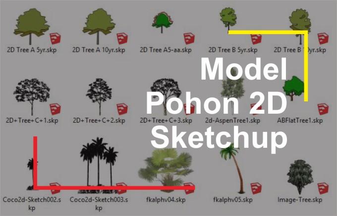 Download Pohon 2D File Sketchup
