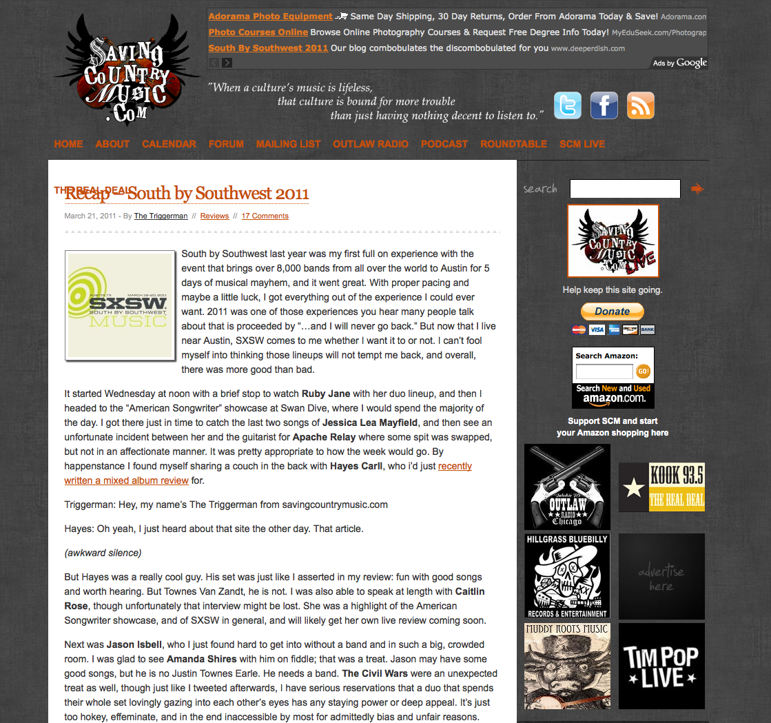 March 2011 - Rusty Knuckles - Motors and Music for True Grit