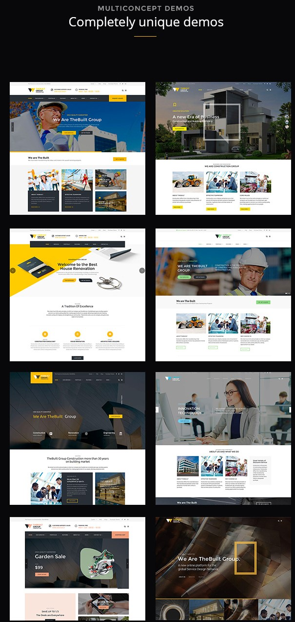 TheBuilt  Construction and Architecture WordPress theme
