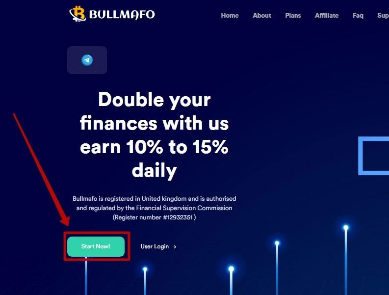 Регистрация в Bullmafo