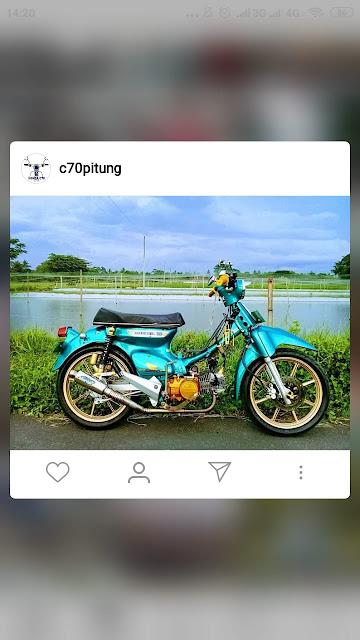 Ini Dia Modifikasi Honda C70 Keren Untuk Inspirasimu