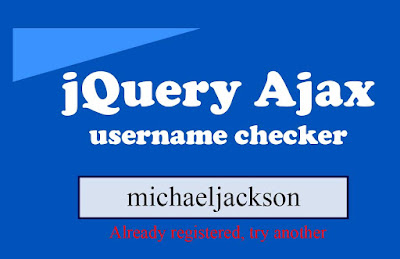 Username checker in jquery ajax