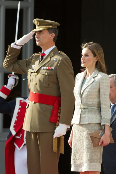 Queen Letizia wore Felipe Varela dress