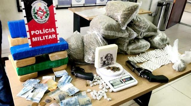 Três suspeitos de tráfico de drogas são presos com mais de 10kg de maconha, em João Pessoa