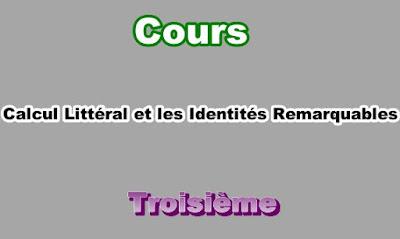 Cours de Calcul Littéral 3eme en PDF