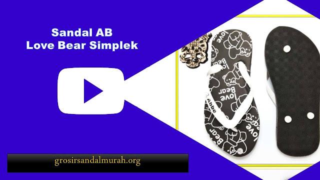 Grosirsandalmurah.org - Sandal Pria- Love Bear Simplek