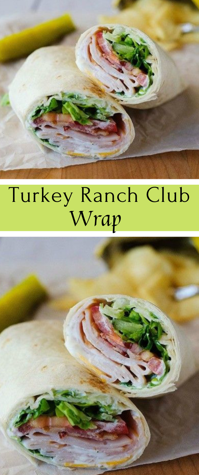 Turkey Ranch Club Wraps #turkey #dinner