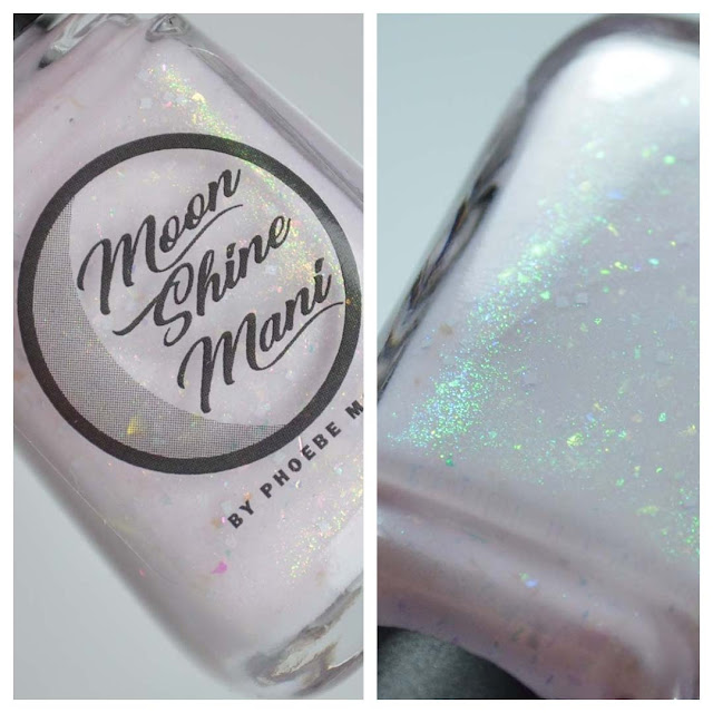light pink shimmer nail polish in a bottle