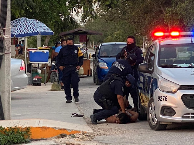 Investigan el homicidio de una mujer en Tulum tras ser detenida por la policía. Twitter