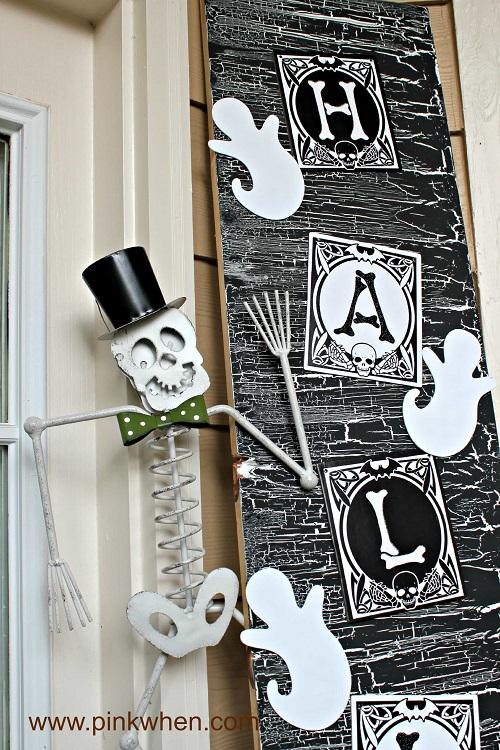 halloween door decor