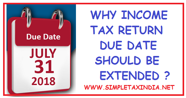 WHY ITR FILING DUE DATE EXTENSION NECESSARY   SIMPLE TAX INDIA