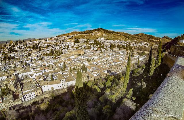 O Albaicín e Sacromonte vistos da Alhambra