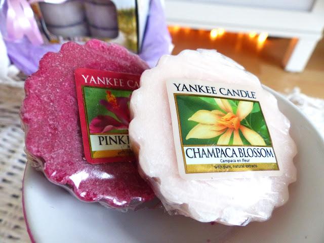 Pink Hibiscus, Champaca Blossom - Recenzja wosków Yankee Candle
