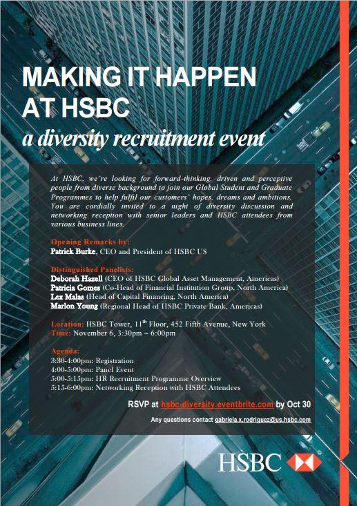 Fordham Career Services Blog: Making it Happen at HSBC: A Diversity