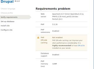masalah instalasi drupal8 1