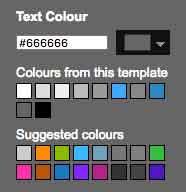 طريقة ظهور مغير اللون داخل مصمم بلوجر