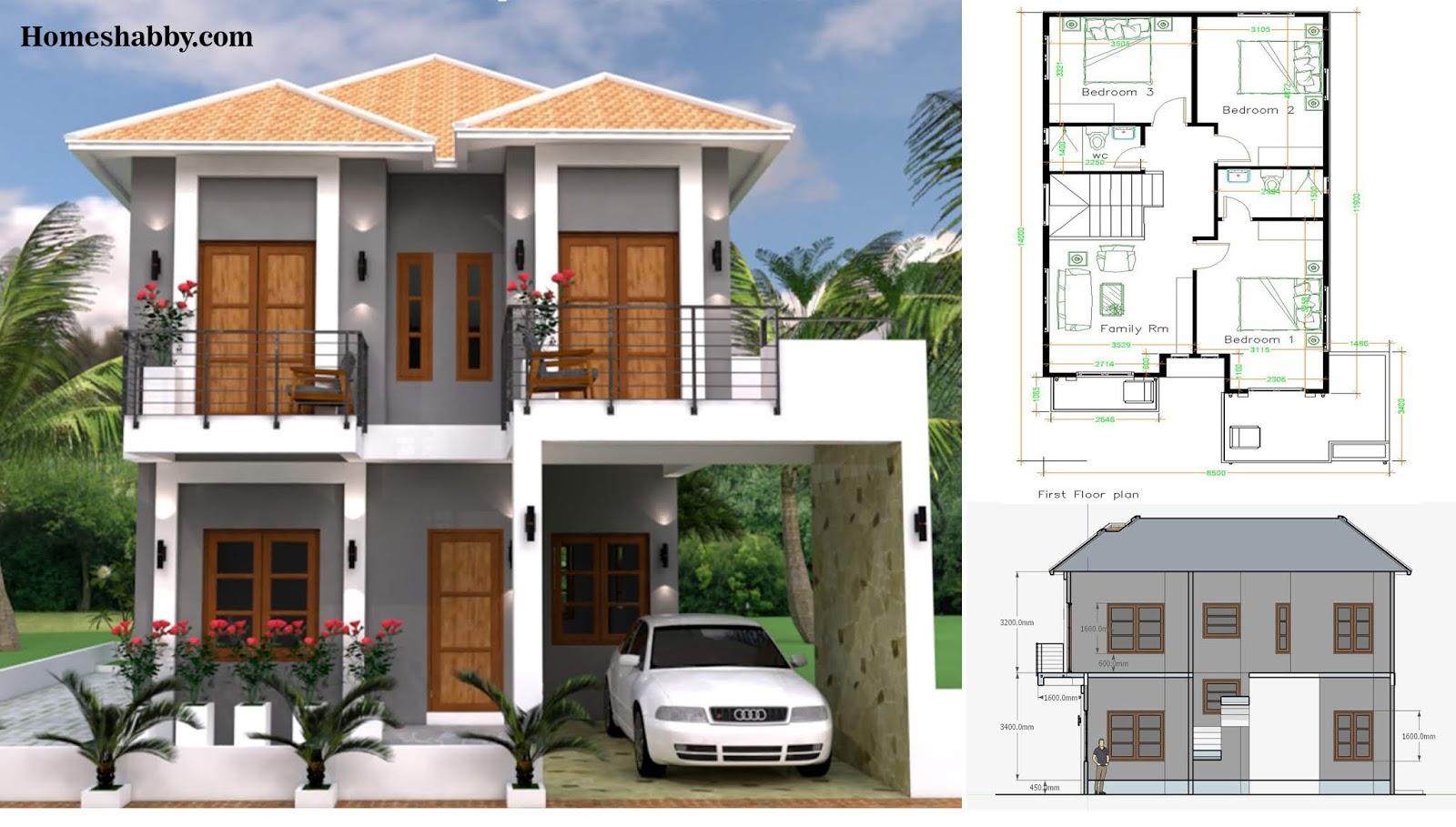 Desain Dan Denah Rumah Minimalis 2 Lantai Cocok Untuk Di Perkampungan Dan Perumahan Perkotaan Homeshabby Com Design Home Plans Home Decorating And Interior Design