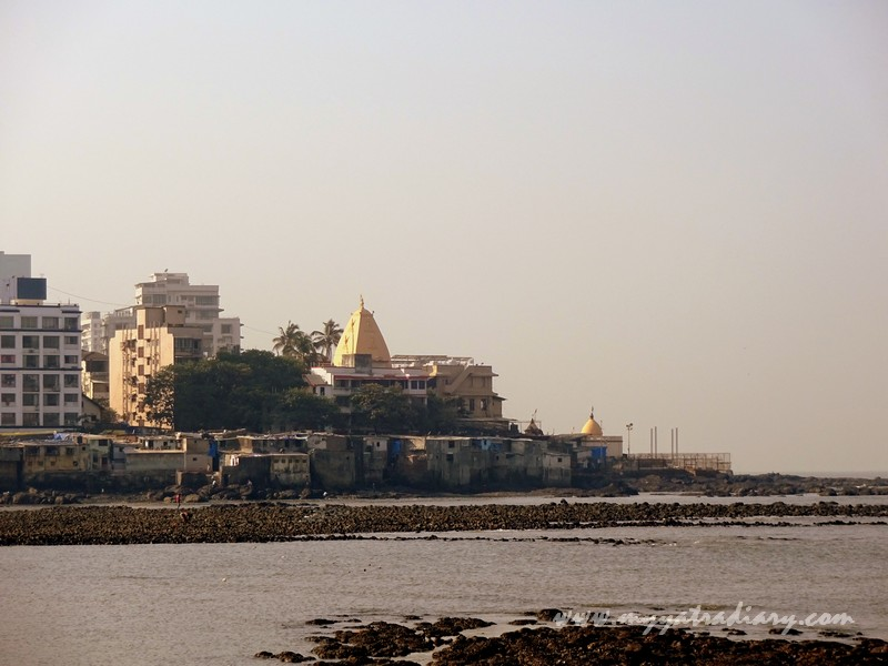 Mahalakshmi Temple as seen from Haji Ali Dargah Mumbai