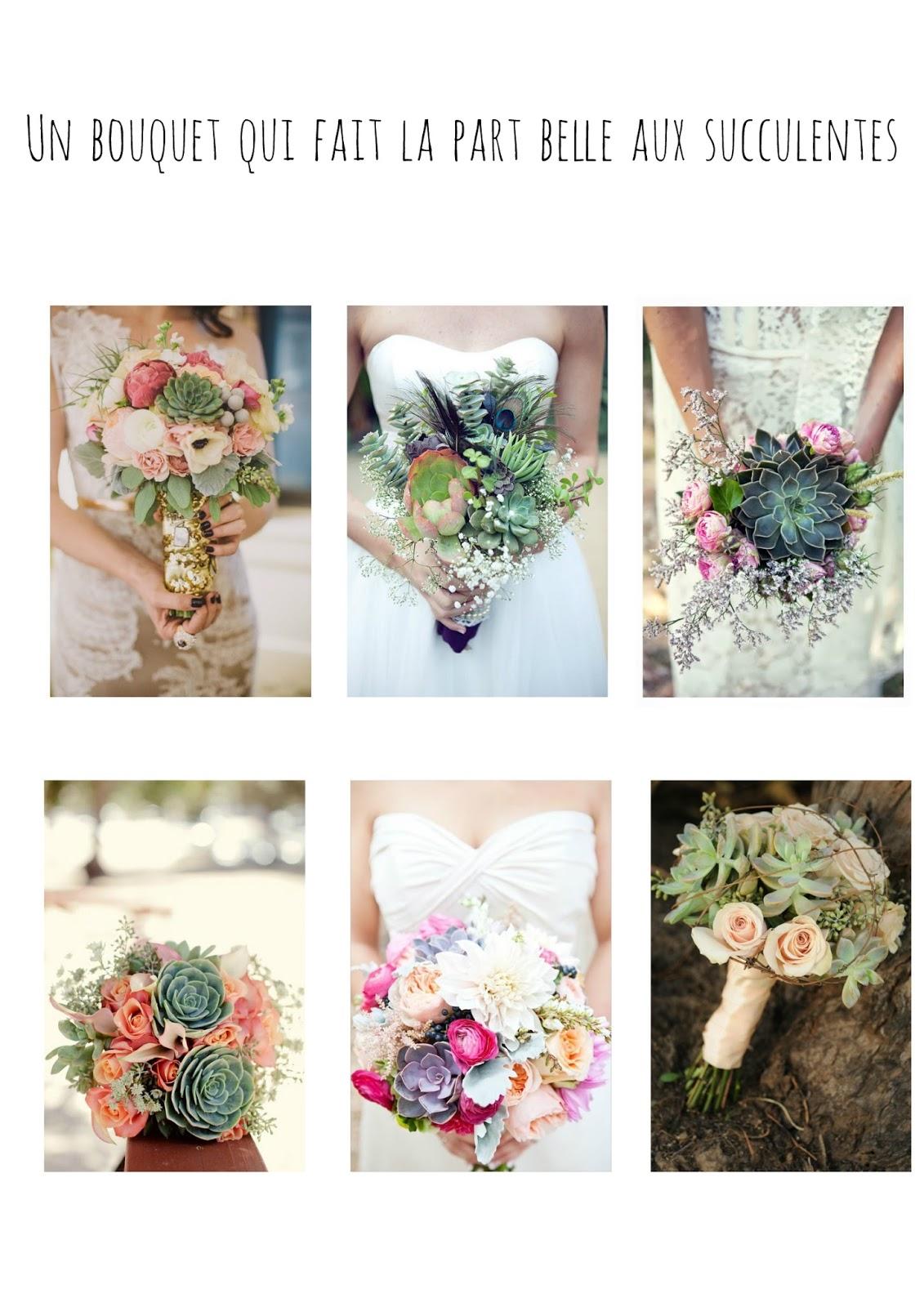 Un bouquet qui fait la place aux succulentes