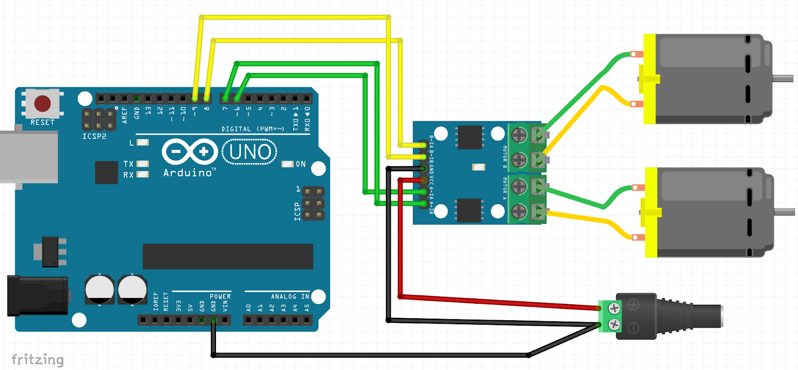 How to control DC Motor using HG7881/L9110 with Arduino