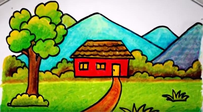 Kreativitas anak menggambar