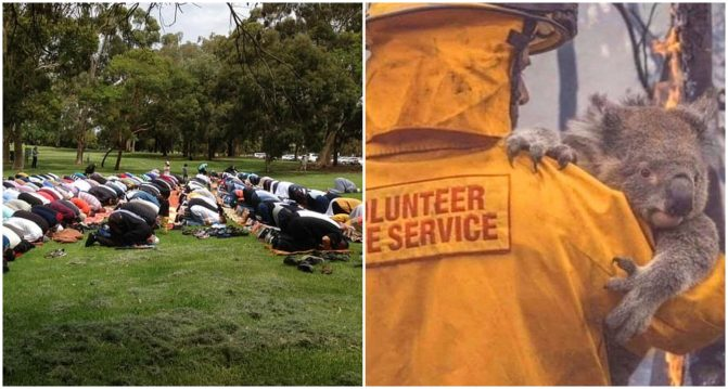 Langit Bertukar Merah, Penganut Kristian Sertai Muslim Australia Berdoa Mohon Hujan