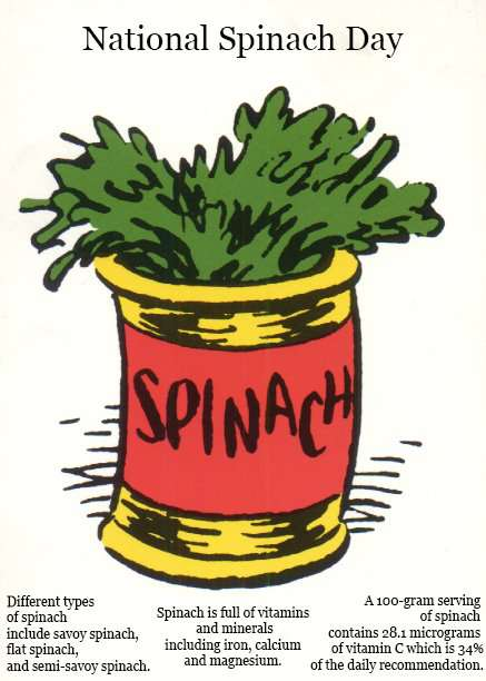 National Spinach Day Wishes Unique Image