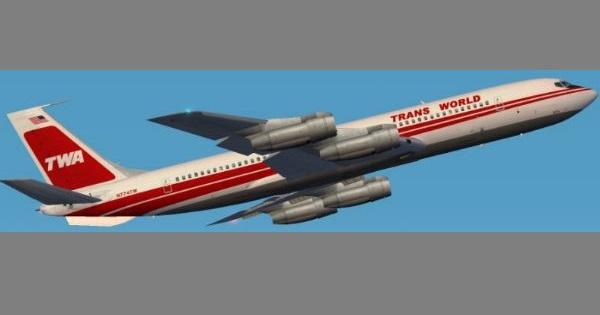 Boeing B707-300 Aeronave comercial Longo Alcance