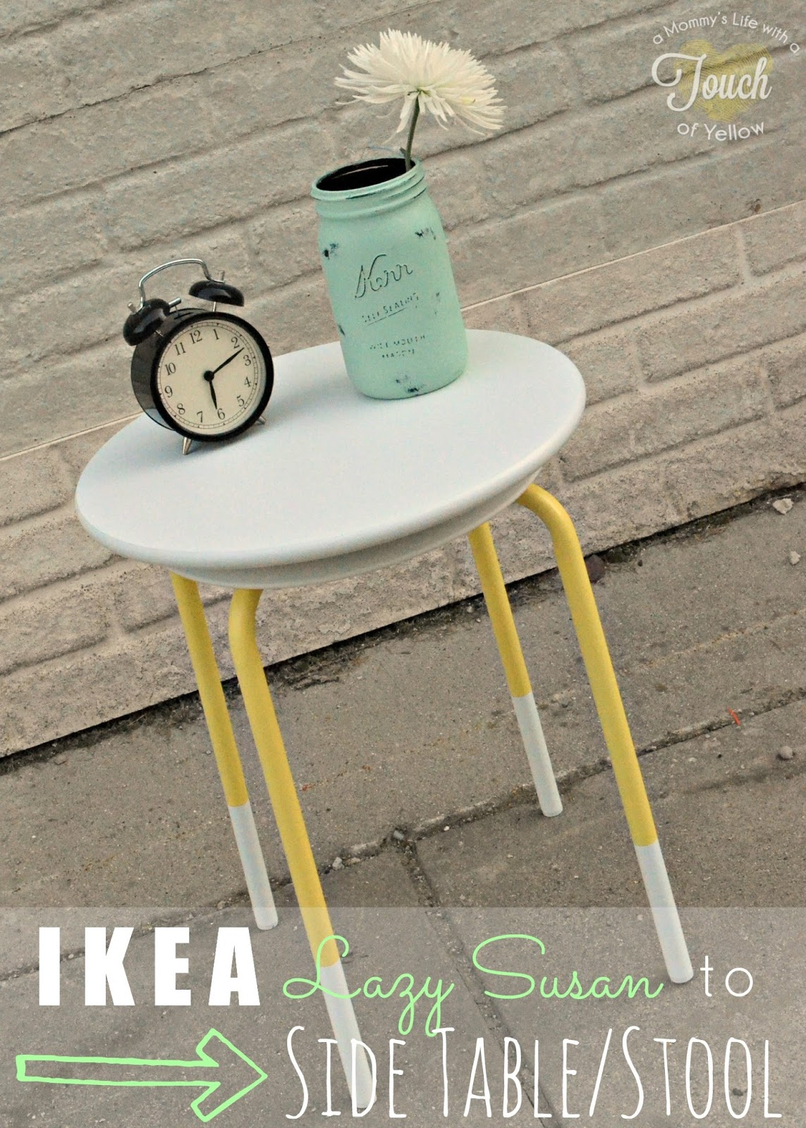 A Mommy S Life With A Touch Of Yellow Sofa Table Revamp