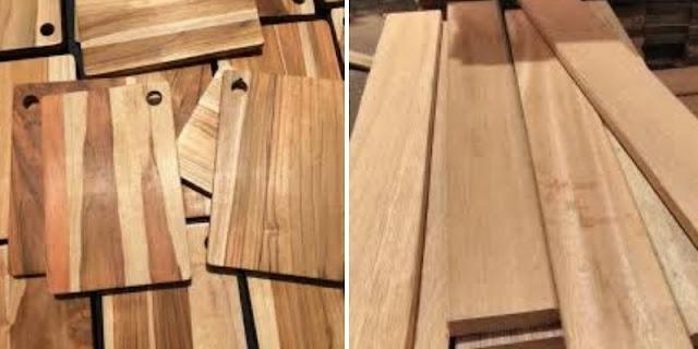 kayu jati dan kayu bengkirai