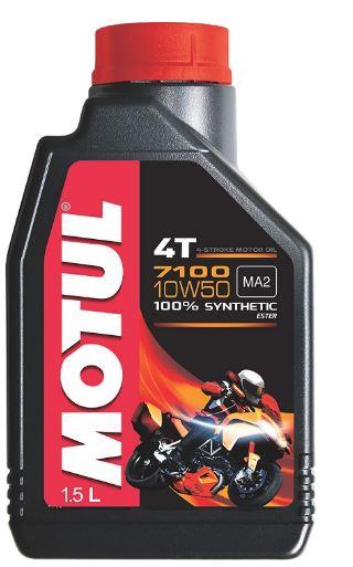 Motul 7100 4T 10W-50 API SN Fully Synthetic Petrol Engine Oil for Bikes (1.5 L)
