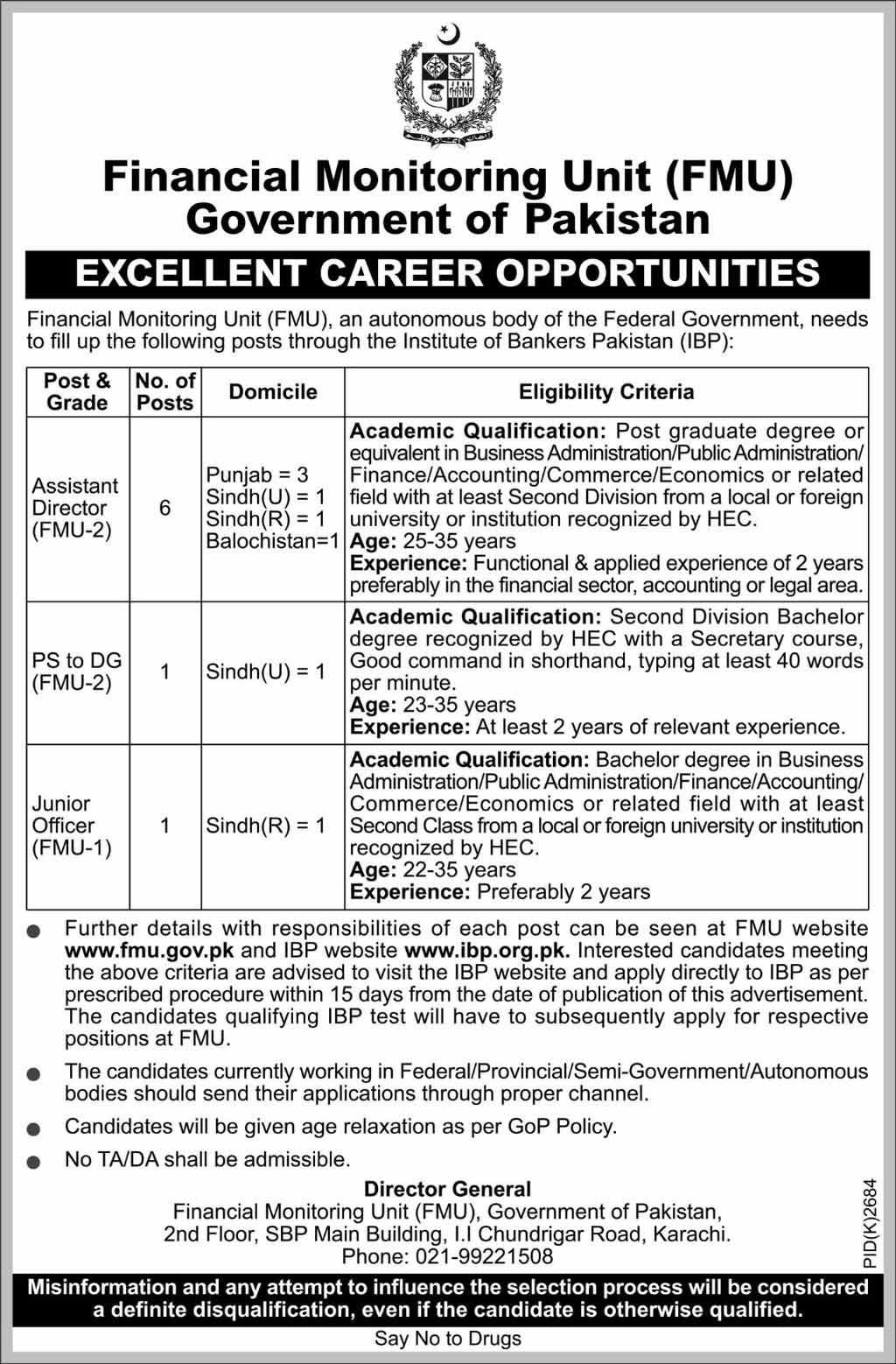 jobs in Pakistan 2019